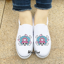 Wenfire White Skateboarding Canvas Shoes Flat One Piece Tony Chopper Sne... - $45.00