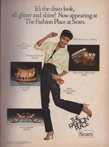 1978 Sears Department Store Disco Dancing Fashion Model Vintage Print Ad 1970s - $7.92