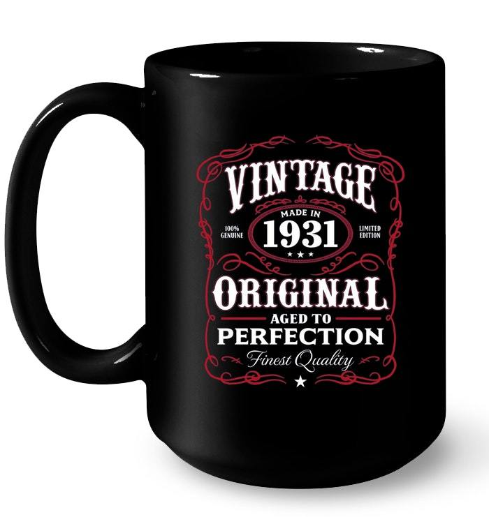 Vintage Made In 1931 87th Birthday Gift Gift Coffee Mug