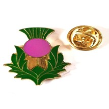 scottish thistle pin badge/ lapel badge with clips on back