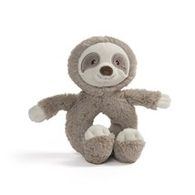 "Baby GUND Toothpick Sloth Rattle Plush Stuffed Animal 7.5"", Taupe - $12.95"