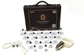 SeoulMedical Cupping Therapy Equipment 20 Cups Set with Pumping Handle and Tube image 1