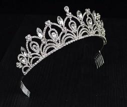 Brillaint Bridal Gold PlatedAustrian Crystal Tiara Style T-010-B
