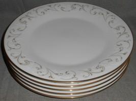 Set (5) Noritake Duetto Pattern Dinner Plates Made In Japan - $98.99
