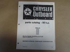 1982 Chrysler Outboard Parts Catalog 50 HP OB 3848 OEM Boat 82 - $19.75