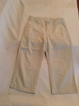 Size 12 Circo capri pants khaki uniform flat front Girls - $10.99