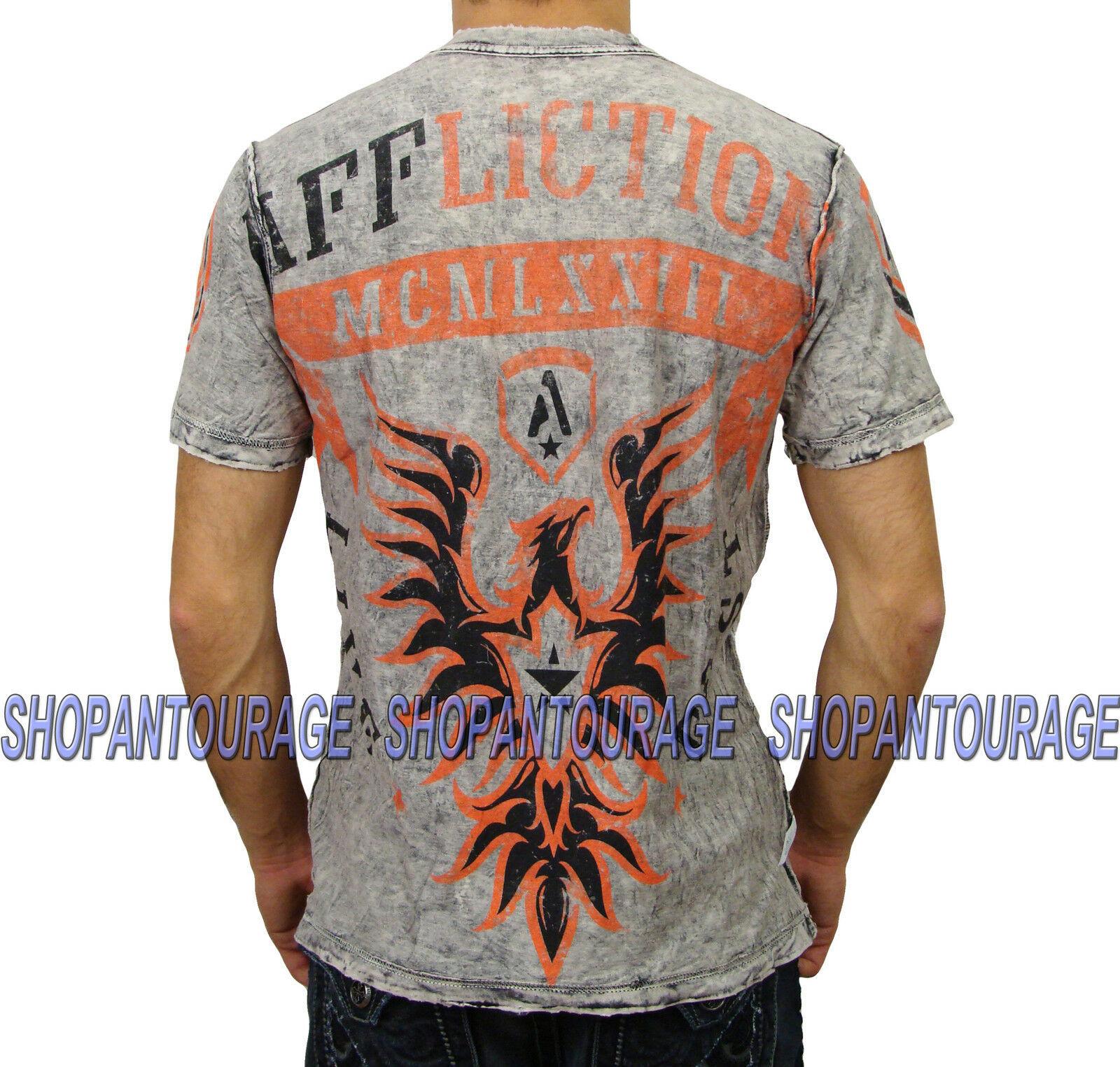 AFFLICTION Glorify A8143 Reversible Men`s New T-shirt Black