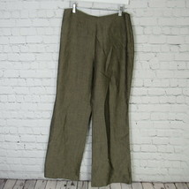 Ann Taylor Pants Womens Size 10 Brownish Gold Linen Blend Career Slacks - $43.89