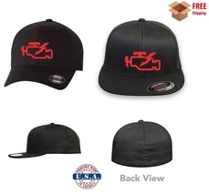 CHECK ENGINE LIGHT GARAGE FUNNY CAR FLEXFIT HAT ***FREE SHIPPING in BOX*** - $19.99