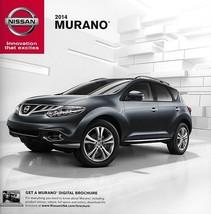2014 Nissan MURANO brochure catalog sheet US 14 SV SL LE CROSSCABRIOLET - $8.00