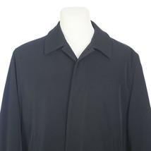 Calvin Klein Mens Black Overcoat Rain Jacket Coat Removable Zip Liner Size 40S - $59.30