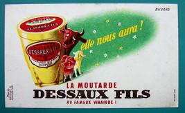 MUSTARD by DESSAUX FILS - c 1960 Ink Blotter Advertisement - $4.49