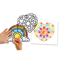 Melissa and Doug Stained Glass Made Easy - Rainbows and Hearts Ornaments... - $8.41