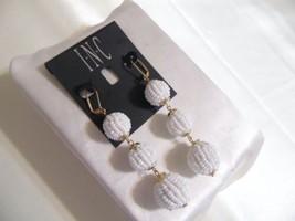 """Inc International Concepts 3-3/4"""" Beaded Sphere Triple Drop Earrings R60... - $11.51"""
