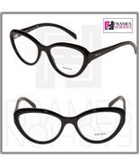 PRADA JOURNAL PR25RV Black Cat Eye Eyeglasses RX Optical Frame 54 mm 25R... - $177.31
