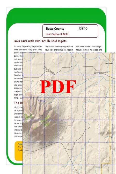 Lost Cache of Gold Ingots of Butte County, Idaho - PDF