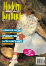 Modern Machine Knitting Aug 1990 Magazine Star Sign LEO, Intarsia Saqqar... - $9.99