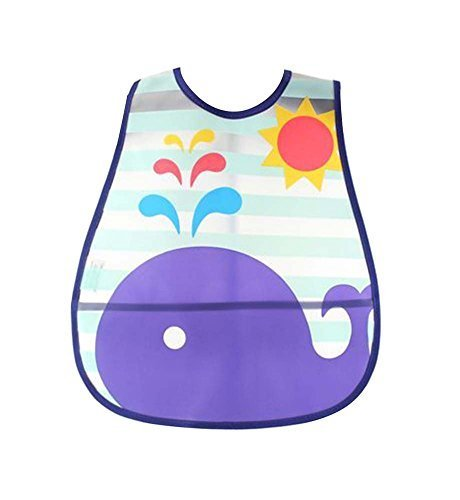 Set of 2 Waterproof Comfortable Baby Bib/Pinafore for Baby, Whale