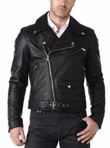 New Men Cowhide Handmade Designer Fashion Leather Jacket, Biker Fashion ... - $165.97+