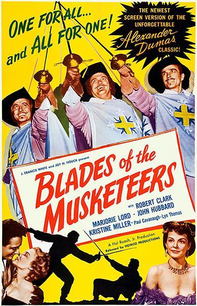 Primary image for Blades Of The Musketeers - 1953 - Movie Poster