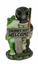 Guardians of The Garden Gnomes Not Welcome Sign Statue - $50.60