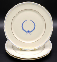 """Rosenthal Empire * 3 Luncheon / Lunch Plates * 9 3/8"""", Blue Wreath, Excellent! - $39.99"""