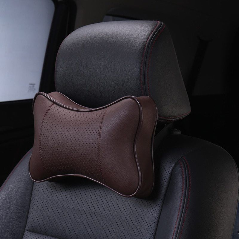 DEFOE® 2pcs/lot Luxury Car Neck Waist Pillow Seat Backrest Headrest Car Seat