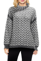 $99 Vince Camuto Cable Turtleneck Sweater Medium Grey L - $95.85 CAD