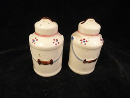 Milk Can Figural Salt and Pepper Shakers China Shawnee - $9.99