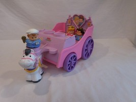 Little People Fisher Price Horse Drawn Royal Carriage with Princess & Pr... - $14.02
