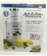 Jack LaLanne Power Juicer Express White/Chrome 250 Watts 30% More 10th A... - $158.39