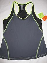 Nwt Women's Gap Body Gray Black Yellow Workout Top Size Xl X Large - $9.99