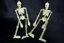 "Set of 2 Matching Skeletons 16"" Posing Hanging Halloween Decorations Decor - £12.14 GBP"