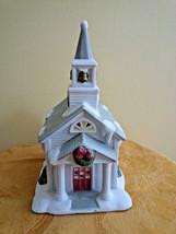 Partylite The Church P0428 Winter Village Decor Wreath Snow Original Box... - $19.75