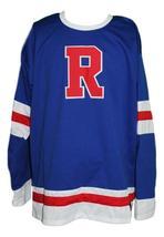 Custom Name # Philadelphia Ramblers Retro Hockey Jersey New Blue Any Size image 3