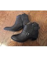 Donald J Pliner Women Short Leather Western Boot, Sz 7.5, Brown - $123.84