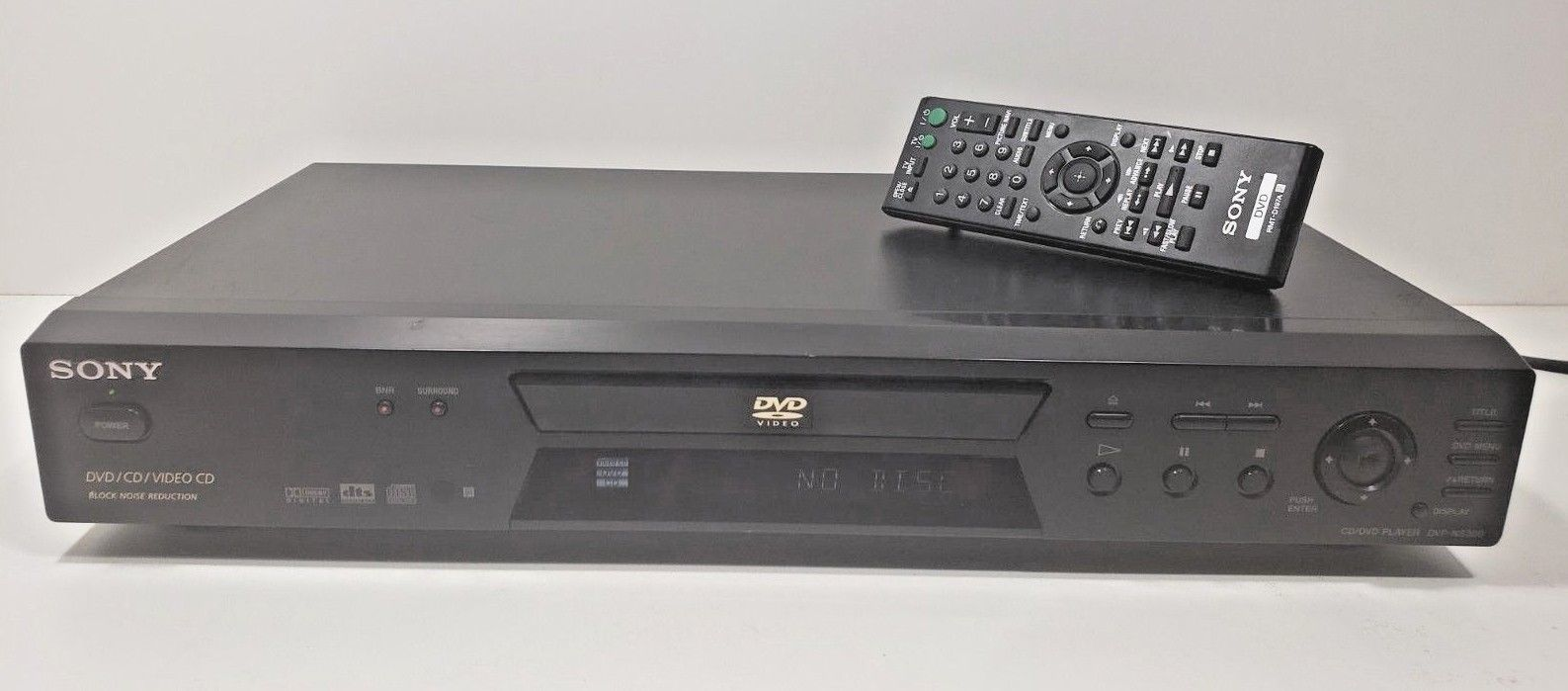 Sony DVP-NS300 CD/DVD/Video CD Player.. Tested with Remote