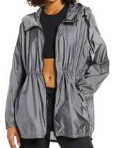 NEW Zella Pack It Water Resistant Anorak Jacket Silver M Medium $119 - $38.51