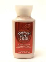 Bath & Body Works Travel Body Lotion Moisturizer Champagne Apple & Honey 3 Oz - $6.64