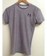 Under Armour Gray Short Sleeve Crew Neck Top Shirt Size S Small EUC - $13.95