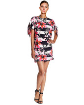 Vince Camuto Women's Stripe Floral Printed Tie Sleeve Shift Cocktail Dre... - $39.59+