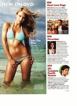 Jessica Alba teen magazine pinup clipping swimsuit Into the blue beach time Bop