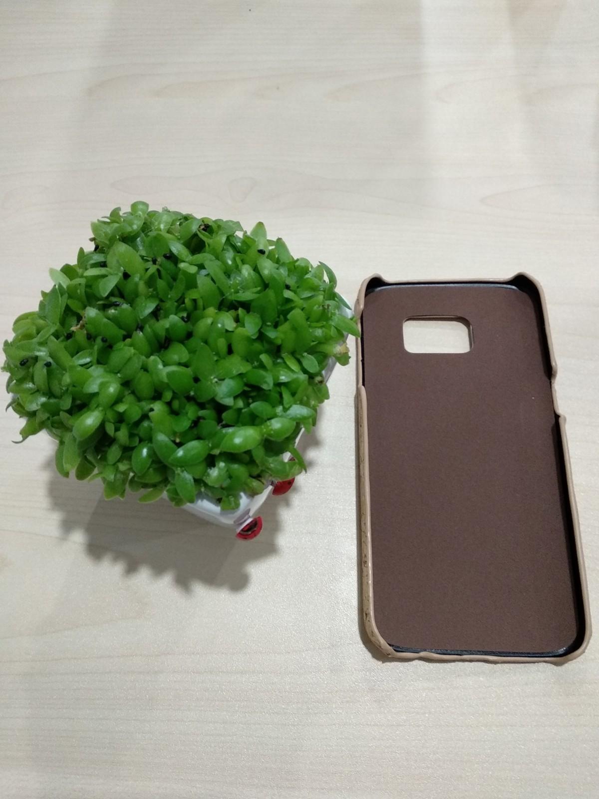 EcoQuote Samsung Galaxy S7 Handmade Phone Case Hard PC Cork Finishing for Vegan