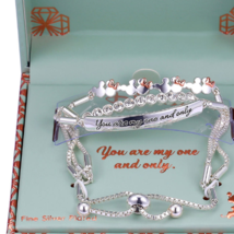Disney Mickey Minnie Silver One and Only Bracelet Mother's Day - $66.49