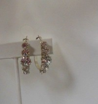 Vintage Clear Faceted Rhinestone Earrings  - $24.75