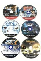 Ps2 Playstation 2 Video Game Lot 6 Game Bundle SSX SSX3 007 NHL Commandos Tekken - $29.57