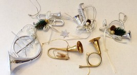 Musical Instrument Christmas Ornament Lot - $12.86