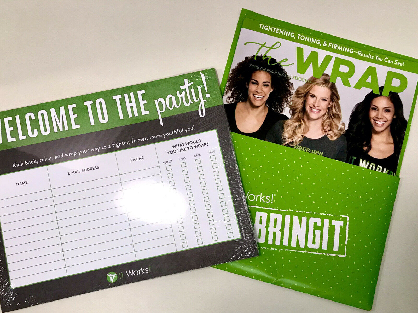 Primary image for It Works Welcome To The Party Information Pad & Bonus Magazine Brand New Sealed