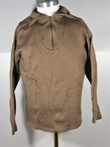 US Army Marine Military Under Shirt Cold Weather Mens M Brown Beige Tan  - $12.73