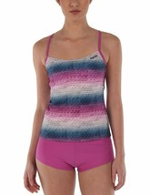Bench UK Womens Mauve Pink Striped Paperweave 2 Piece Tankika Tankini Swim Wear image 1